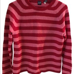 Striped pink and red sweater